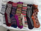 外贸  杂款复古袜  民族风袜子 双路无线头袜子批发