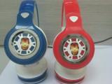 巴思奇新款钢铁侠夜光头戴式耳机 MP3 MP4耳机游戏影音耳机Y