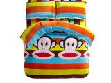 儿童秋冬加绒保暖床上用品毛绒被套床单法莱绒加厚四件套卡通版