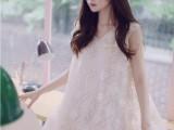 2014夏季女装新款可爱刺绣钩花宽松淑女个性百搭连衣裙VC5-3