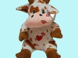 创意卡通花花小奶牛毛绒玩具 时尚动漫礼品公仔 愤怒小鸟公仔