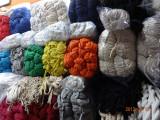 黑白色彩色扁棉绳.双层空心扁棉绳。衣服帽绳裤腰绳等