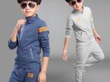 韩版男童时尚运动套装 童装秋款 儿童数字条纹纯色套装 童套装