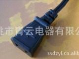 生产厂家供应质优 美式电源线 UL认证电脑大小片尾部插座电源