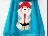 春秋款童装 泰迪熊卡通  3-10岁中童 儿童纯棉卫衣 代销代发