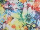 花朵白纸印花210T涤塔夫箱包服装里料