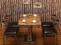 复古工业风铁艺餐桌椅定做厂家 铁艺主题餐桌椅定制