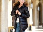 2012冬季新款范冰冰童佳倩同款修身貉子大毛领中长款羽绒服女正品