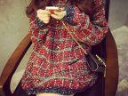 秋冬新款宽松大码针织衫女式厚毛衣圆领长袖粗毛线中长款外套2567