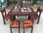 延安市老船木茶桌椅子仿古茶台实木沙发茶几餐桌办公桌家具博古架