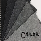 厂家直销粗纺环保黑灰麦尔登大衣毛呢面料 现货批发毛呢面料