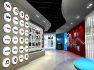 深圳福田喷绘背景墙制作办公室写字楼玻璃贴膜 前台LOGO