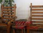 吴忠市老船木家具茶桌办公桌餐桌椅子实木沙发茶几茶台鱼缸博古架