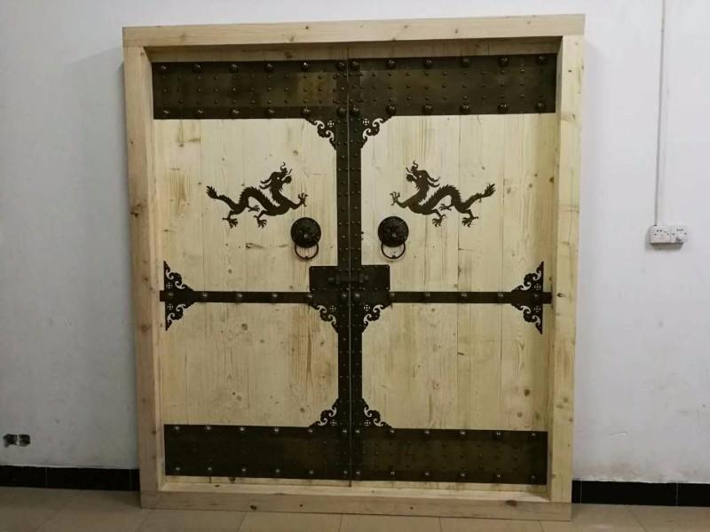 庭院门木门厂家 围墙双开大门 别墅庭院大门