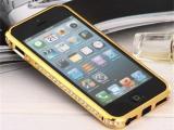iphone5水钻边框 苹果4S/5S金属边框 镶钻手机壳钻石边