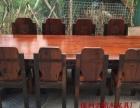 黄南实木家具办公桌茶桌椅子老船木客厅家具沙发茶几茶台餐桌案台
