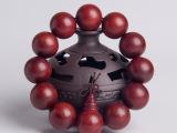 禅香文化 赞比亚血檀手串佛珠手链木质媲美顺纹小叶紫檀新品促销