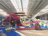 青海柠昊景观施工水泥假山 水泥仿木栏杆 假树大门 儿童乐园