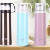 韩版不锈钢真空保温杯男女创意随身杯 便携