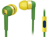 飞利浦SHE7055BZ个性通用手机音乐耳机入耳式带麦面条线耳机
