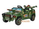 东方战车四通遥控儿童汽车可充电军绿色 遥控坐人童车批发