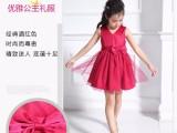 国内童畔女童V领短裙时尚新品