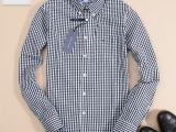 2014春夏新款男士纯棉格子长袖衬衫 男款衬衣 930