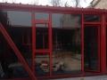 洛阳防盗金钢网隐形纱窗,封阳台隔热断桥铝阳光房设计