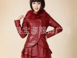 厂家直销 大牌气质 毛领加厚棉衣 女装 韩版修身中长款皮棉袄