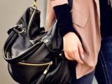 2013新款欧美风简约女包流苏铆钉包手提单肩包斜挎包大包包
