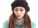 新款秋冬帽子韩版腈纶针织帽女士时尚冬款毛线帽纯手工 dn3093