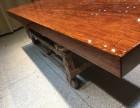 巴花大板简约餐桌原木办公家具老板桌班台实木大板茶桌书桌会议桌