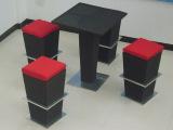 sunbrella红色布料酒店吧台桌椅编藤材质中国风型号red8