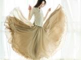 26米超长面料3层超大摆高端皱褶半身裙长裙批发速卖通微信爆款