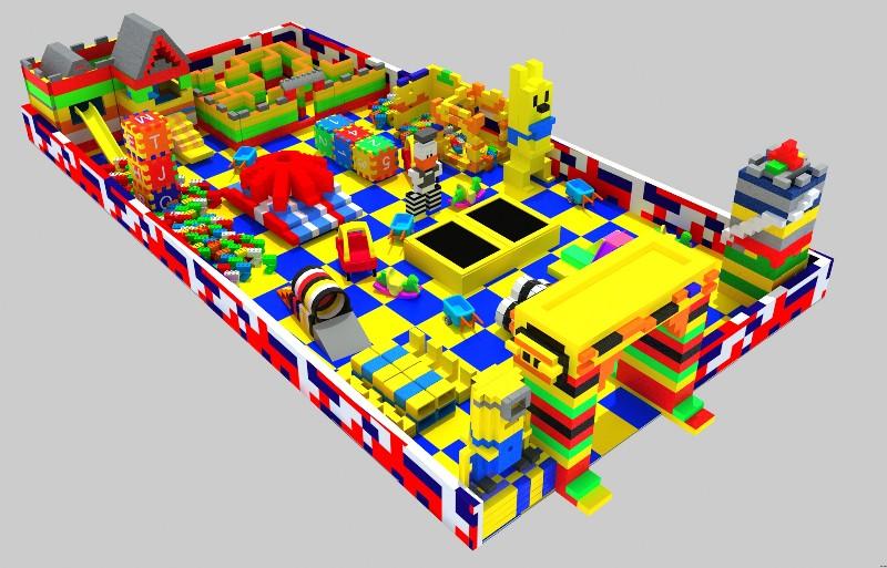 大型积木火热定制 积木城堡 EPP积木乐园拼装 多道具造型