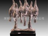 厂家供应新品树脂玻璃钢雕塑定制/电镀雕塑/雕塑工厂爆款酒店雕塑
