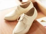 女鞋批发2014春季女鞋日系深口系带女鞋粗跟单鞋中跟休闲单鞋