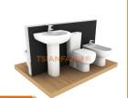 组合式钢制面板烤漆马桶展示架VM009-A