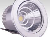 5W10W15W20W银色高光天花灯三四五寸COB筒灯LED天花