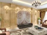 客厅墙体装饰通体岗石罗马柱电视背景墙2017年最新报价