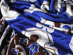 供应100%桑蚕丝真丝针织双面料 复古蓝色卷云纹 丝绸面料针织真