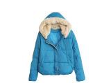 13冬季韩国女士短款棉衣修身加厚毛领棉服外套装蕾丝小棉袄外套
