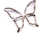 厂家供应简约服装扣配件 可用腰带扣装饰 优质蝴蝶扣配件 可批发
