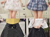 2015春夏新款网纱半身裙女夏 韩版高腰短裙女百搭半身裙子伞裙