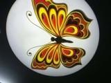 旋转12W投影灯 logo片投射蝴蝶飞舞效果图