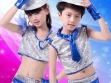 六一新品儿童演出服 爵士舞男女童舞蹈服装亮片少儿现代舞表演服