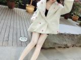2014冬季新品女装韩国东大门毛球球韩版时尚宽松版保暖大衣女