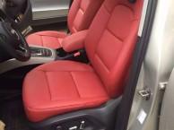 汽车座椅包真皮座套,汽车真皮座椅改通风,加电动腰托