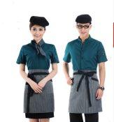 酒店工作服夏装,快餐厅服务员短袖 女 餐厅服装夏季 男