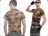 厂家直销荒漠迷彩军训T恤全涤户外训练衫军迷保安服批发